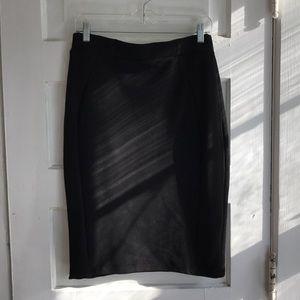 Zara black fitted pencil skirt, L